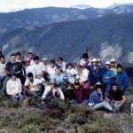 La clase realiza un viaje para visitar una de las tantas montañas de Costa Rica.