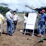Los profesores llevan el aula al campo.
