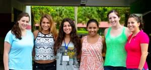 Allison Neenan, Danielle Casale, Sara Campos, Rachel Fricke, Megan Cavanaugh and Dianna Duran (Teaching Assistant)