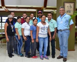 University of Panama students with Professor Edgardo Gutiérrez.