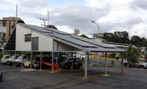 This solar recharging station was built by CNFL after participating in a CIDER renewable energy seminar.