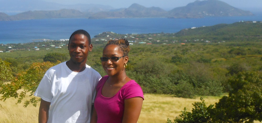 Prince Arrindell and Devene Smithen are the first EARTH students from Nevis.