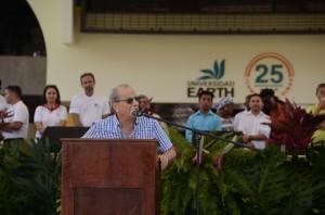 José Zaglul, EARTH's president, giving a speech at the celebration
