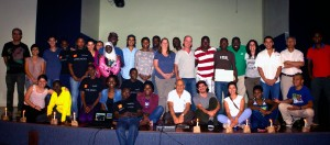 Students and faculty who participated in the activity organized by Rwandian students