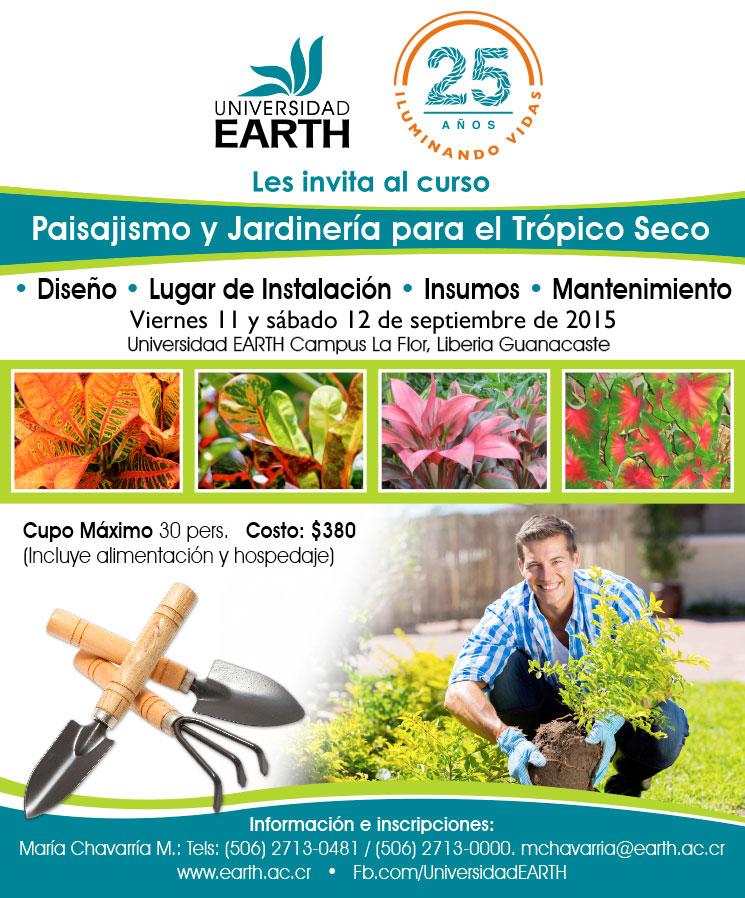 Curso de jardiner a y paisajismo para el tr pico seco for Curso paisajismo