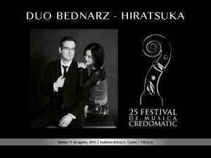 Canadian violinist Frédéric Bednarz and the pianist Natsuki Hiratsuka