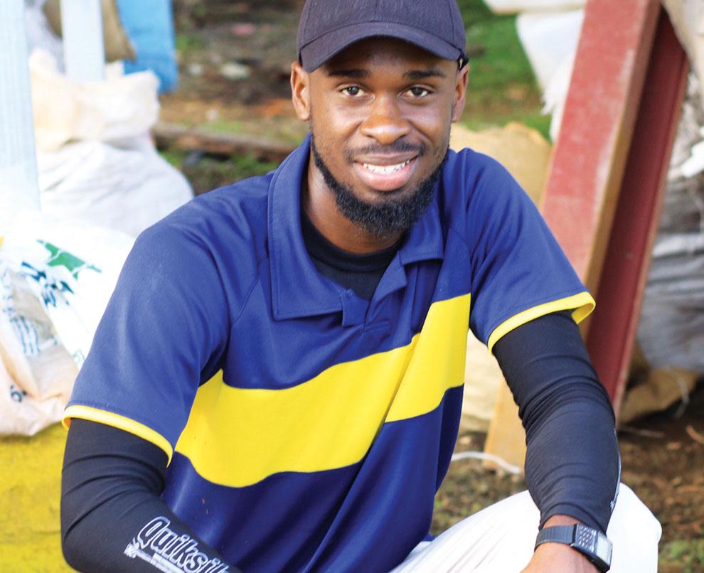 Student Kevaughn Bonner ('15, Jamaica)