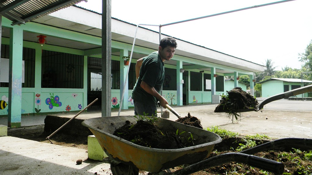 In addition to working on family farms, students also plan activities for children at local schools.