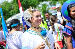 Leidyana never missed an opportunity to perform traditional dances from her home country Panama.