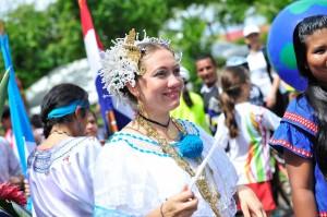 Leidyana siempre se caracterizó por participar en actividades culturales representando a su país.