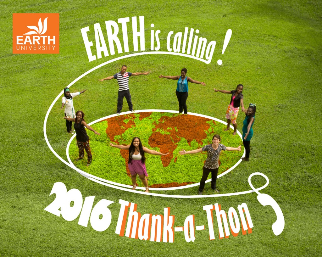 Our students called some donors on  the phone to thank their contribution to EARTH