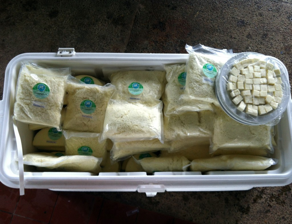 This is some of the cheese produced by us.