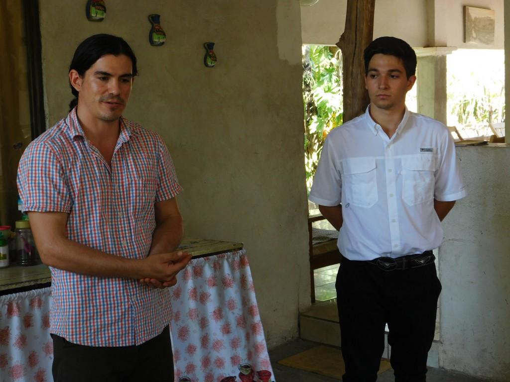José Carlos Rodriguez ('17, Costa Rica) and Esteban Chanto ('17, Costa Rica) in the Cañas Dulces community in Liberia, Costa Rica,