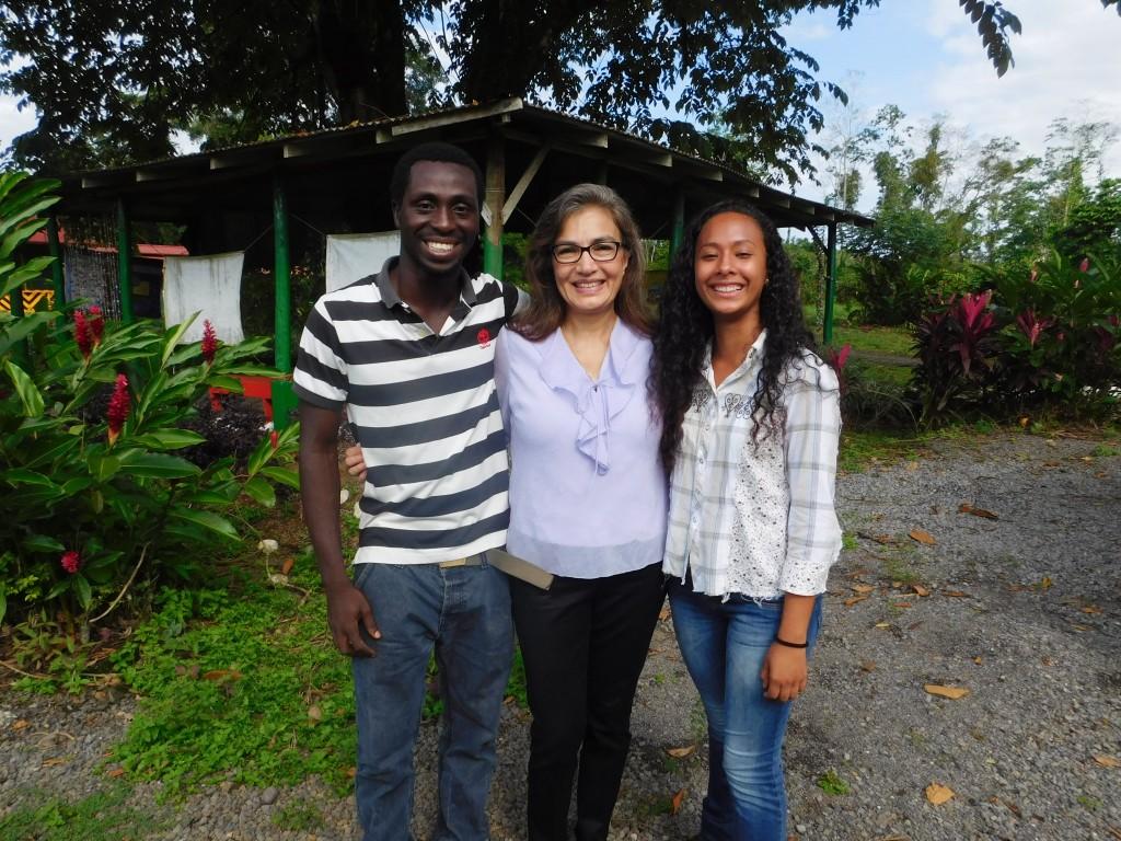 Erasmus Aduteye ('19, Ghana), Sandra Cauffman and María José Rojas ('19, Costa Rica).
