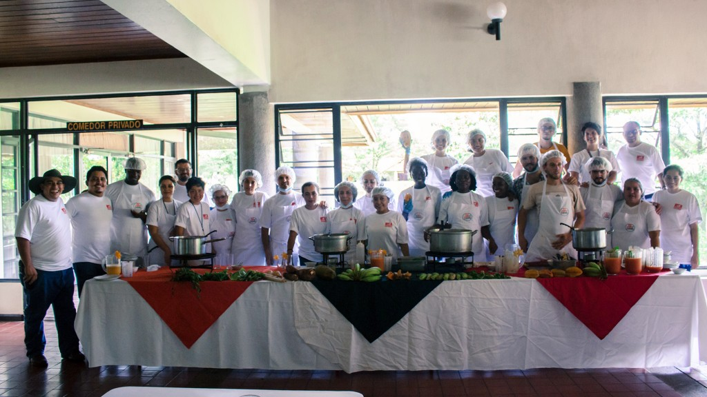 The cooks posing for the photo