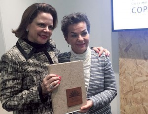 Rebecca Grynspan and Cristiana Figueres