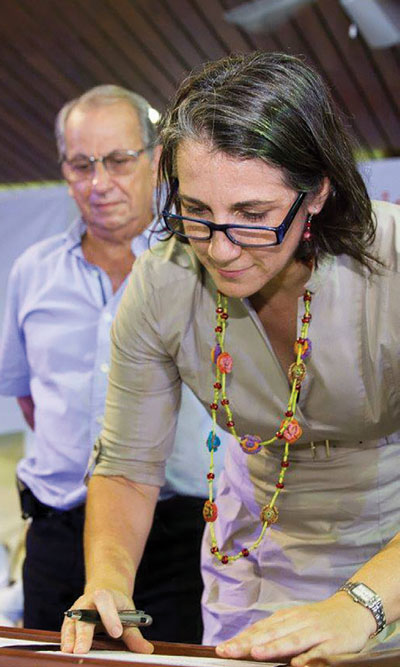 José Zaglul and First Lady Mercedes Peñas