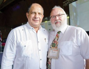 President Luis Guillermo Solís and David Ives