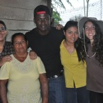 Sindy Ramos (Guatemala, '16, second from the right) says that working on Hernandez's (second from the left) farm has prepared her to help communities in her native Guatemala.