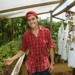 First-year Sebastian Del Barco ('19, Costa Rica) has also gained hands-on knowledge from working on Hernandez's farm through the community development program.