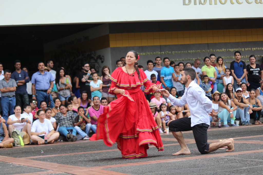 Dolores dancing during the 2016 EARTH Multicultural Fair.