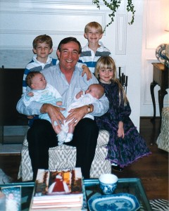 Ray Anderson with his grandkids.