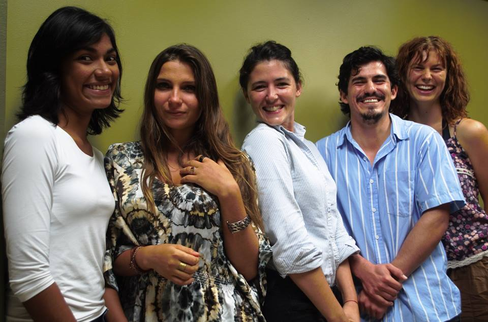 José Carlos Rodríguez (blue shirt) with his Armonisa business partners Fátima (far left), Ambra, Sofía and Jana.