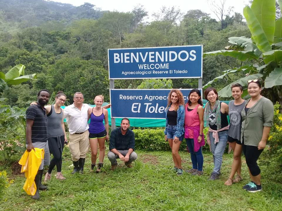 A group from the University for Peace of San José, Costa Rica, tours the reserve on May 20, 2017. Photo: Reserva El Toledo's Facebook page