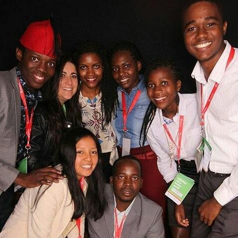 EARTH University students at the Summit. (Photo: Facebook, Thabu Mugala)