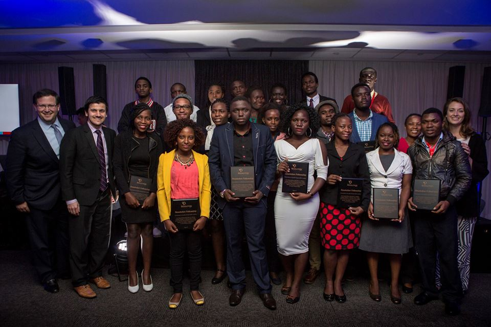 The winning students at the Baobab Summit 2017. (Photo: Facebook, The MasterCard Foundation)