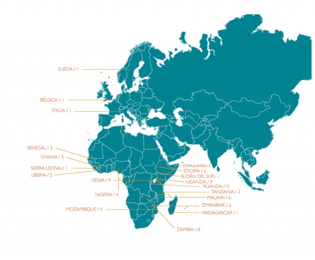 412 estudiantes de 42 países de América, África, el Caribe y Europa