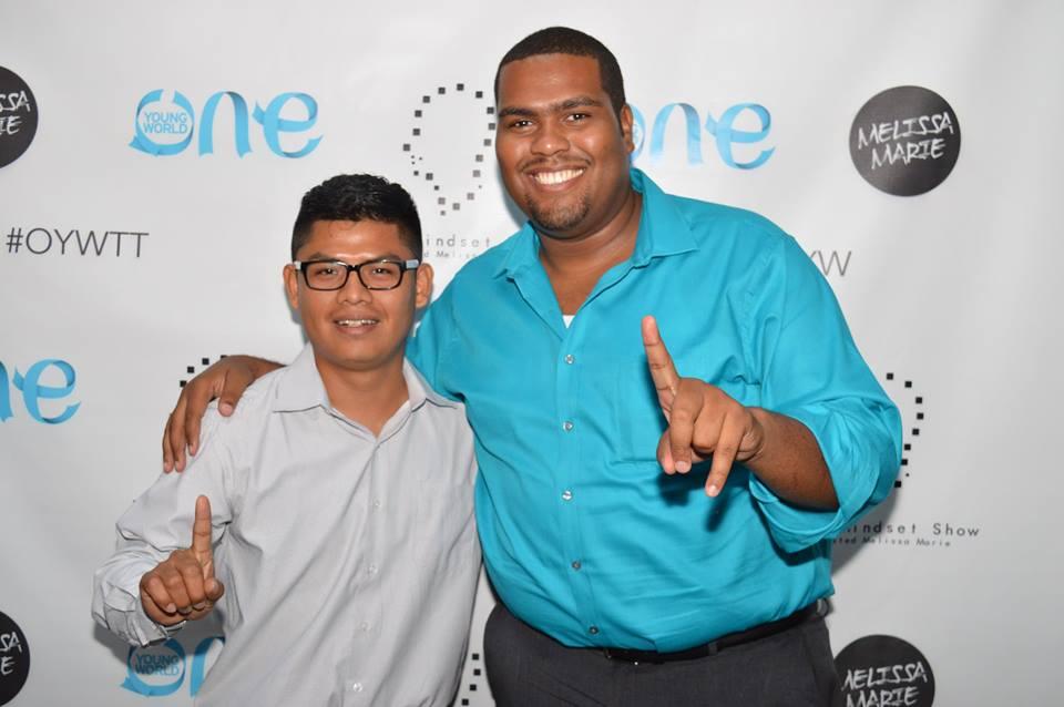 The Mastercard Foundation Scholar Juan Bol ('17, Belize) at the OYWTT 2017. Photo: Facebook, Marc Alain Boucicault.