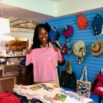 In the Oropendola Gift Shop on EARTH University's campus, Nokubonga searches for a tiny EARTH T-shirt her future child can wear. Nokubonga and her husband, a Baptist pastor she married in 2015, are expecting their first baby in April 2018.