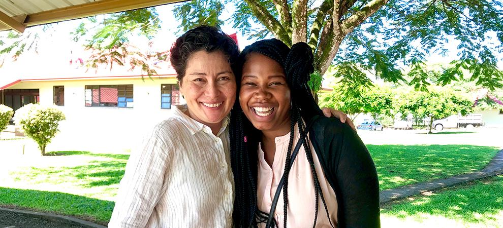 Nokubonga with Dr. Chan