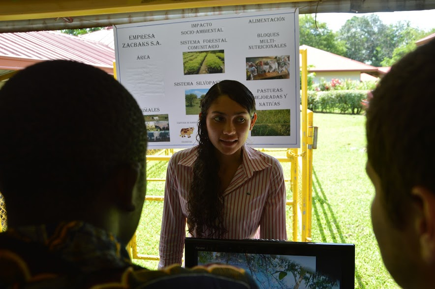 In second year, Suyitza presented about her entrepreneurial project, which focused on animal production.