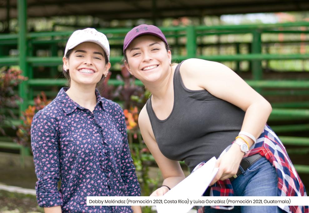 Estudiantes: Debby Meléndez (Promoción 2021, Costa Rica) y Luisa González (Promoción 2021, Guatemala)