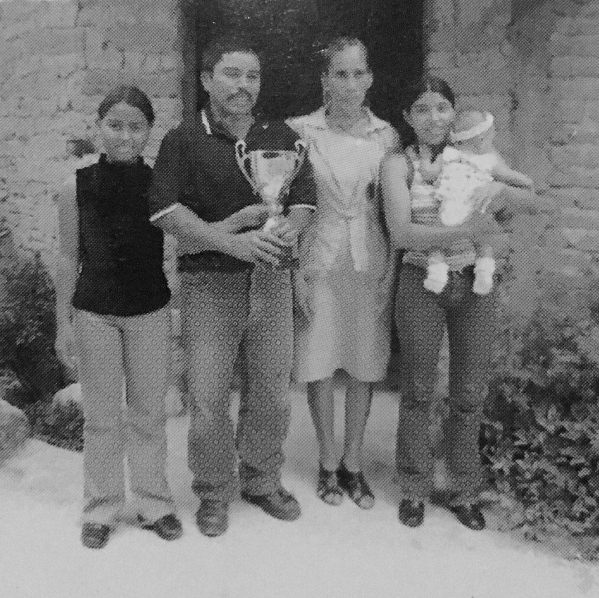 Rosa Ayde Martínez y su familia