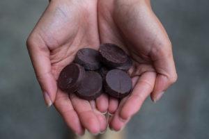 La presentación única de los chocolates.