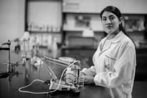 Portrait of Tatiana at the Lab.