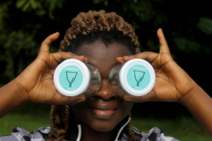 Brenda promoting the use of menstrual cups.