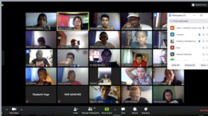 Students in the virtual classroom.