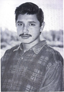 Portrait of Oscar Arreola in the 90s.