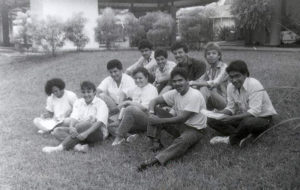 Students on the Guácimo campus.