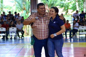Joel and Alicia Tejeda at Guácimo Campus.