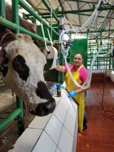 Esmeralda works at EARTH's Livestock Farm